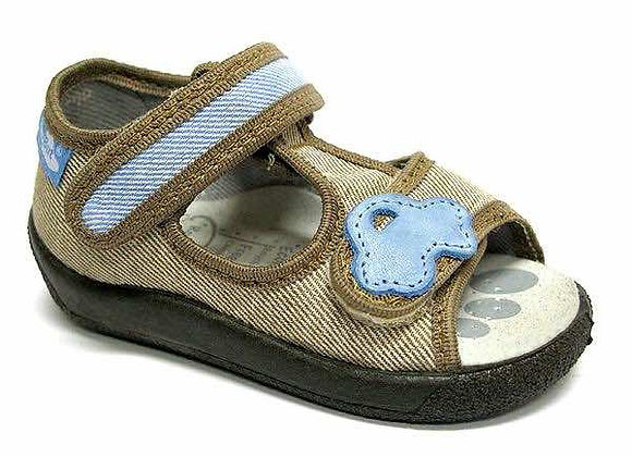 RBB13_140_0392OT Beige Canvas Sandals