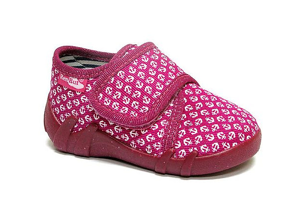 RBG13_110_0716 Hot Pink Anchor Canvas Shoes