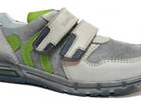 RBB33_4327G_S Gray Leather Sneakers