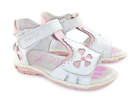 RBG11_1384_OS White Leather Sandals