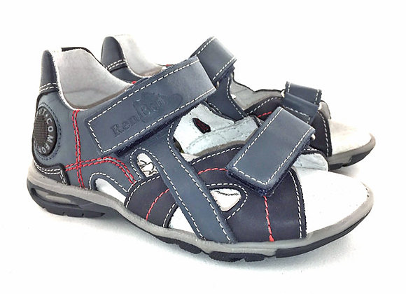RBB23_3053_OS Navy Jeans Leather Sandals