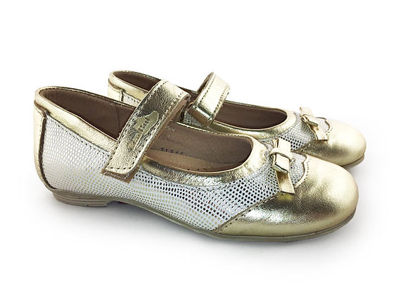 RBG23_3187_0790_D Gold Leather Mary Jane