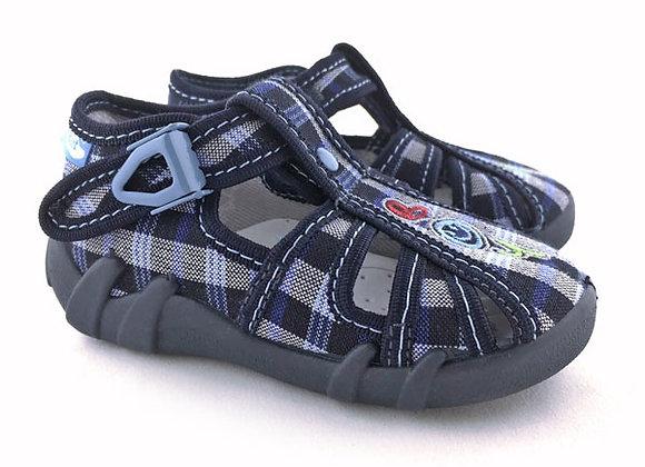 RBB13_106N_CT Checkered Canvas Sandals