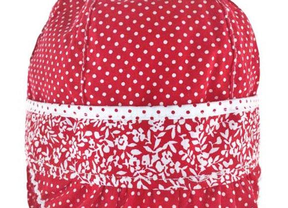MG_MAL_SH Red Polka Dot Spring/Summer Hat