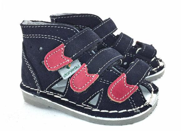 DBS_S104 Navy Suede Sandals