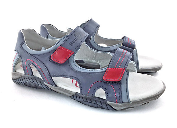 RBB31_4336N_OS Jeans Blue Leather Sandals