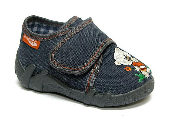 RBB13_110_0150 Gray Canvas Shoes