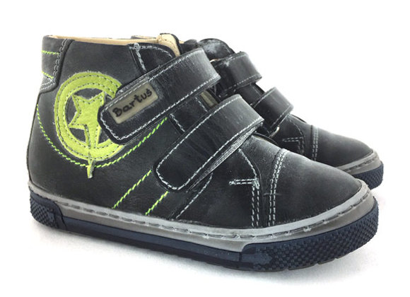 BB_169G_HT Graphite Leather High Tops