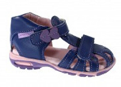 MG280N_CS Navy Leather Sandals