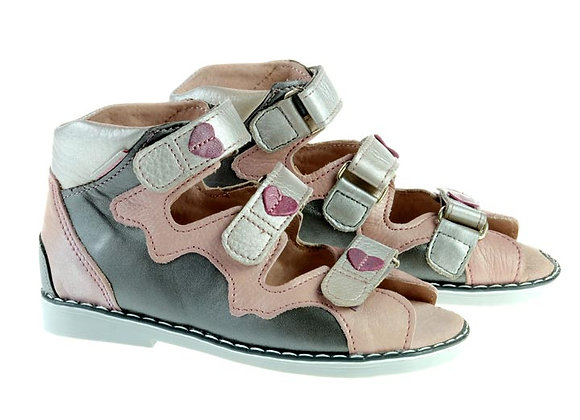 MGOR1334_OS Gray-Silver Leather Sandals
