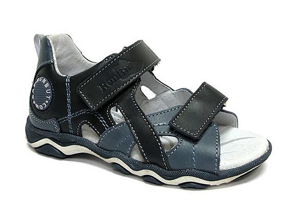 RBB21_3053N_OS Navy Leather Sandals