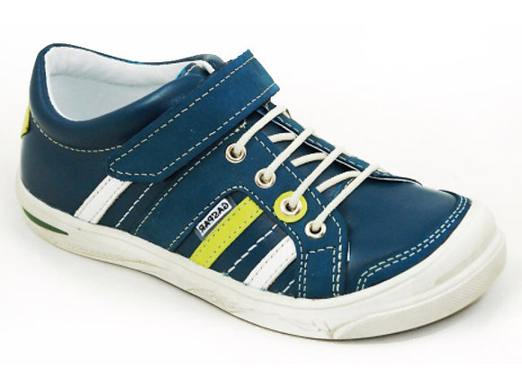 GB260_15_S Navy Leather Sneakers