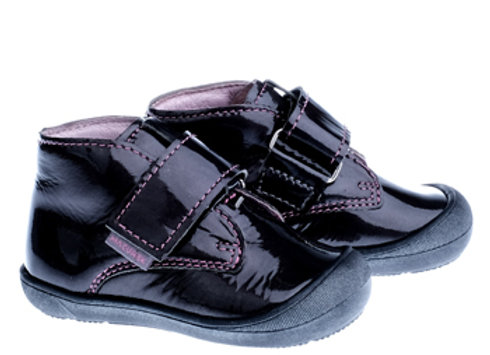 MG1101_6_D Glossy Black Leather Shoes