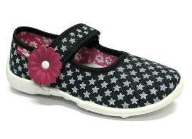 RBG33_415_0619 Gray Stars Navy Canvas Shoes
