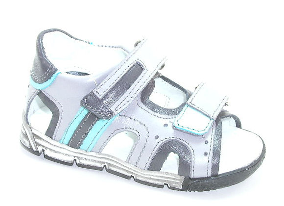 KB3726_OS Light Gray Leather Sandals