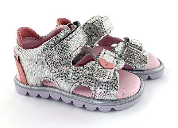 MG314S_OS Silver Leather Sandals