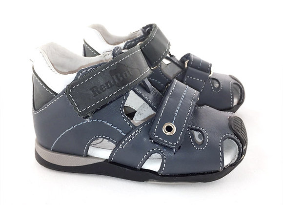 RBB11_1330N_CS Navy Leather Sandals