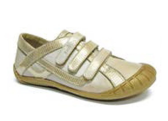 RBG33_4294_S Gold Leather Sneakers
