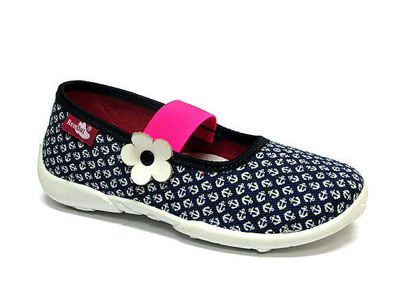 RBG33_414_0106 Navy Anchor Canvas Shoes