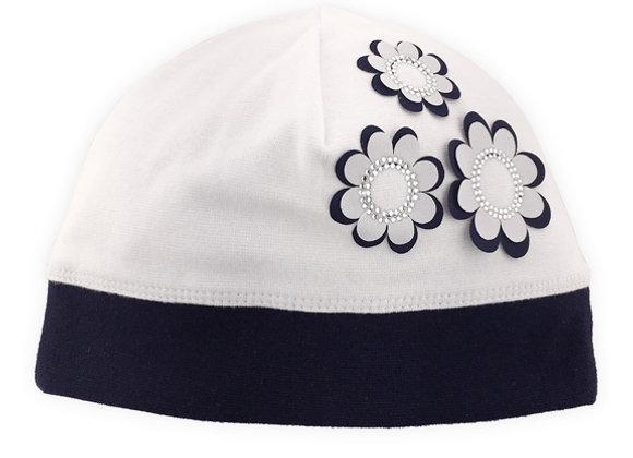 MG_1350N_SH Ivory/Navy Spring Hat