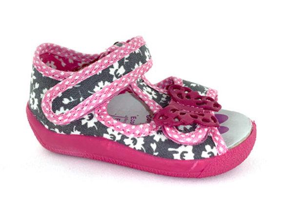 RBG13_140G_OT Gray Canvas Sandals