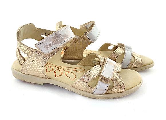 RBG31_4164_OS Gold Leather Sandals