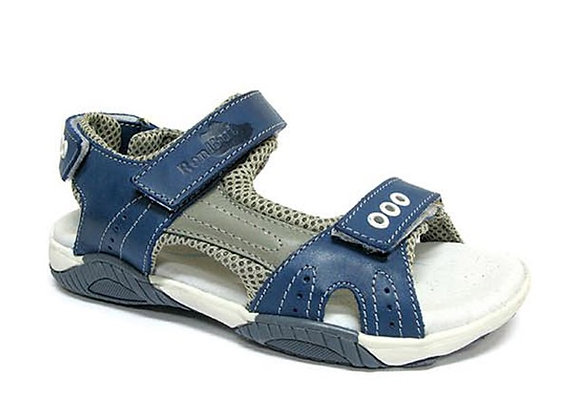RBB31_4201_OS Blue Leather Sandals