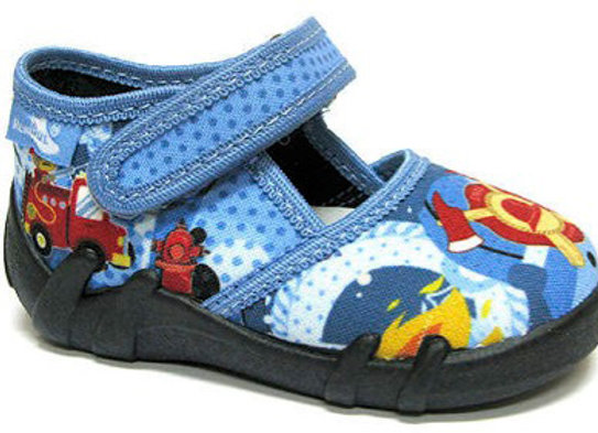 RBB13_105_P1009 Blue/Fire Canvas Shoes