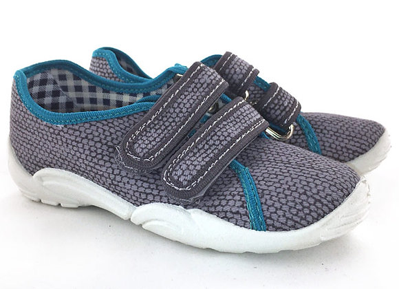 RBB33_374_C Gray Canvas Sneakers