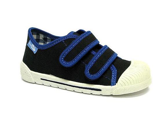 RBB33_383_0623 Black Canvas Sneakers