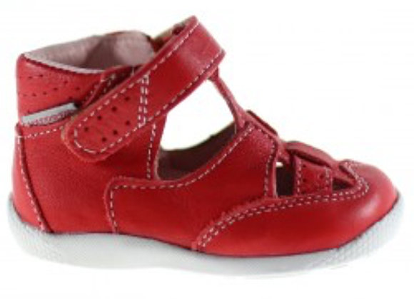 MG187R_CS Red Leather Sandals