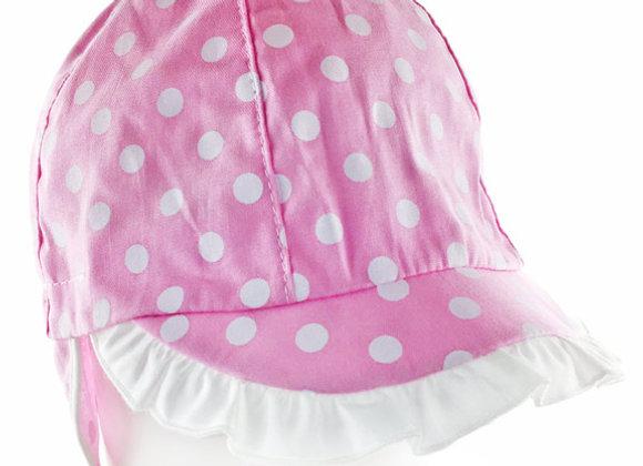 JG_17003_SH Pink Polka Dot Summer/Spring Cap