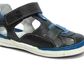RBB23_3229N_CS Navy Leather Sandals