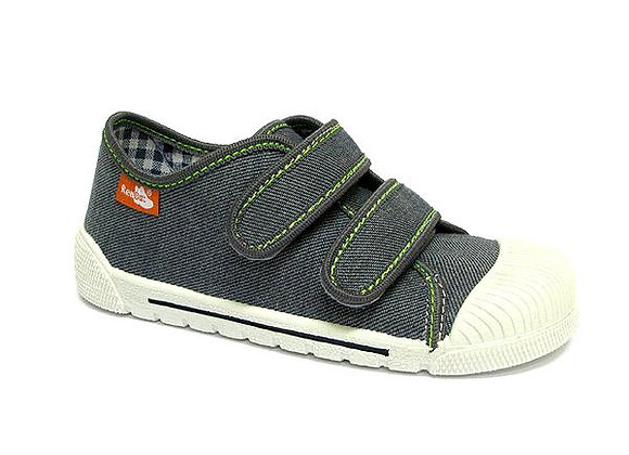 RBB33_383_0147 Gray Canvas Sneakers