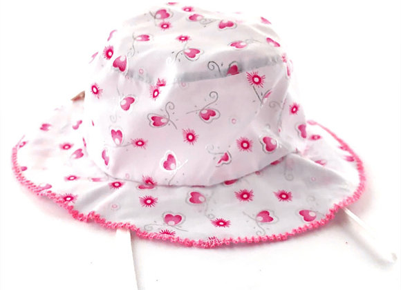 MGH13_S White Patterned Summer Bucket Hat