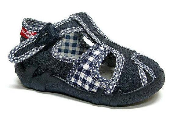 RBB13_128_L_0147CT Gray Canvas Sandals