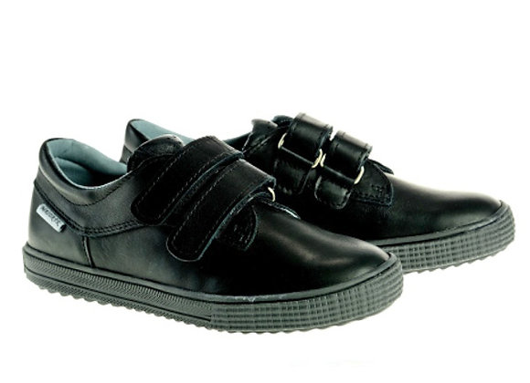MB140_130_BLACK_S Black Leather Sneakers