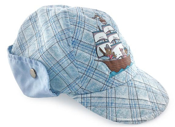 YB_025_SH Blue Checkered Summer Hat