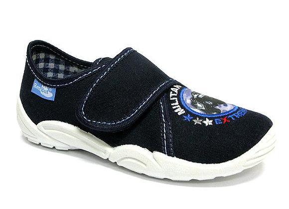 RBB33_373_0113 Dark Navy Canvas Shoes