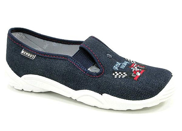 RBB33_371_0239 Navy Car Canvas Shoes