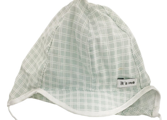 MB_BAMG_SH Light Green Checkered Summer Hat