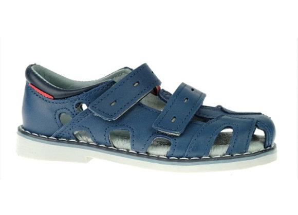 MB170N_CS Navy Leather Sandals