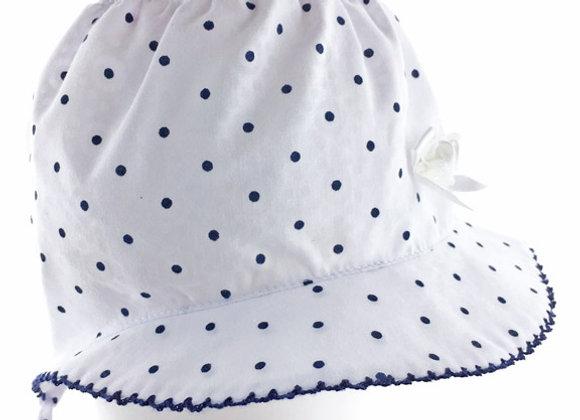 MG_MAT_SH White-Navy Polka Dot Summer Bonnet