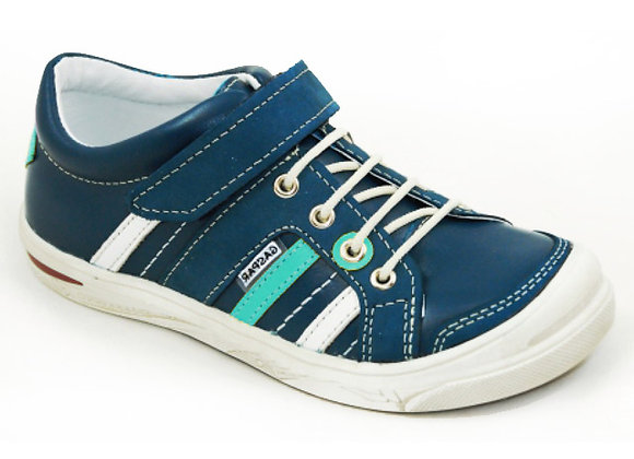 GB260_14_S Navy Leather Sneakers