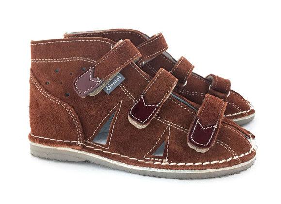 DBS_S414B Brown Suede Sandals