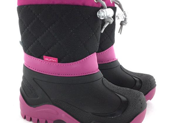 RBG22_477B_SB Black/Magenta Snow Boots