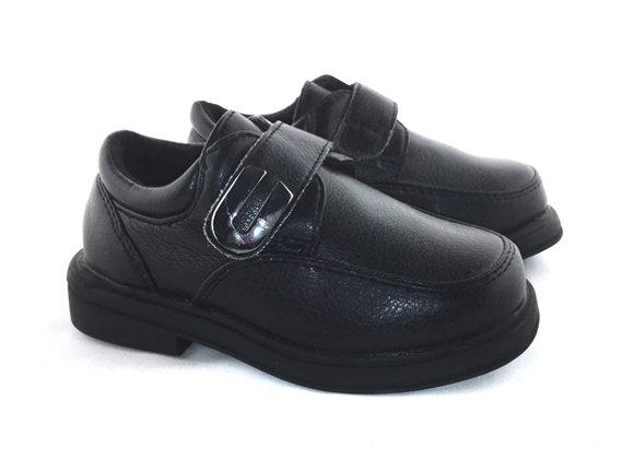 MB105B_D Black Leather Shoes