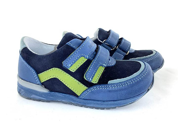 RBB23_3261_S Blue/Navy Leather Sneakers