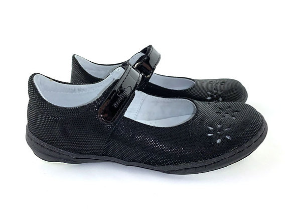 RBG33_4351B_D Black Shimmer Leather Mary Jane