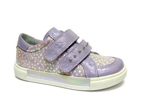 RBG23_3329_0081_S Violet Shimmer Leather Sneakers